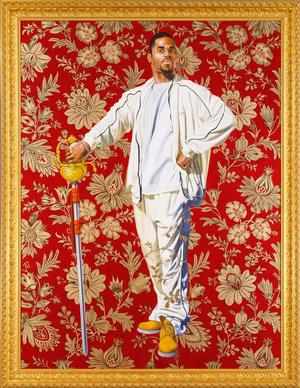 "Kehinde Wiley, Willem van Heythuysen, 2006. Oil and enamel on canvas, 96 x 72"" Virginia Museum of Fine Arts; Arthur and Margaret Glasgow Fund. © Kehinde Wiley. Photo: Travis Fullerton, VMFA"