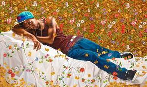 Kehinde Wiley, Morpheus, 2008, oil on canvas. Collection of Laura Lee Brown and Steve Wilson, 21c Museum Hotels. Courtesy of Roberts & Tilton, Culver City, CA; Sean Kelly, New York; Galeries Daniel Templon, Paris; and Stephen Friedman Gallery, London