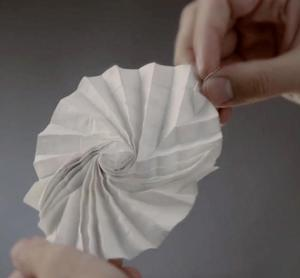 Origami form used in engineering. Still from Larru Howell & Spencer Magleby video