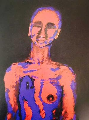 Mohamed Osman, Breast Cancer, 2006, acrylic