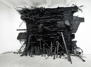 Leonardo Drew, Number 134, 2009, Wood and mixed media, approx. 186 x 278 x 88""