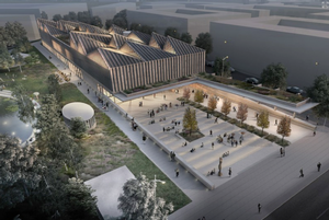 Adjaye Associates rendering for the Latvian Museum of Contemporary Art Museum