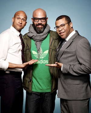 Arem Duplessis (center) with comedians Key and Peele