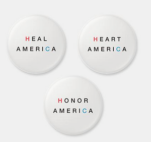 Arem Duplessis Hillary Clinton button design