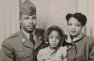 Young Barbara and her parents Grady Wright and Lula Mae Wright. Photo collection of the artist