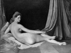 Jean Auguste Dominique Ingres, French, Montauban. 1780-1867 Paris and Workshop. Odalisque in Grisaille, oil on canvas. The Metropolitan Museum of Art, Catharine Lorillard Wolfe Collection