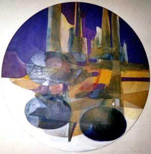 Souls Transitioning 2004, acrylic on canvas, 40