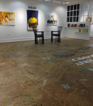 View of Samella Lewis exhibit, Stella Jones Gallery, 2016
