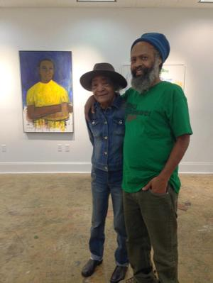 Samella Lewis and son, Claude, at Stella Jones Gallery