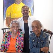Leah Chase, Stella Jones and Samella Lewis at Stella Jones Gallery. August 2016